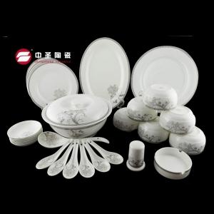 31头银边花餐具ZS0220