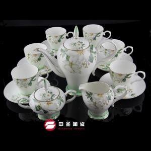 15头骨瓷玉兰茶具ZS00195