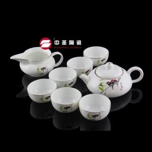 8头骨瓷咏春茶具ZS00130