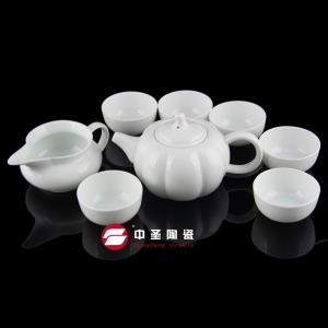 8头骨瓷青瓷南瓜茶具ZS00130