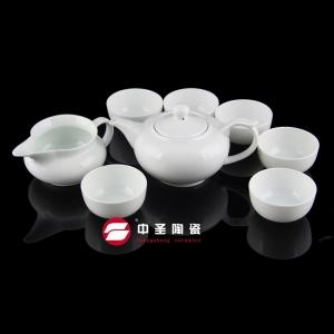8头骨瓷青瓷龙头茶具ZS00130