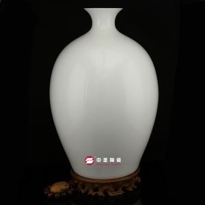 如意瓶——中圣青玉骨瓷瓶